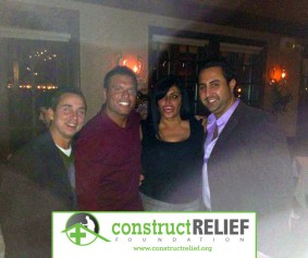 "Founders of Construct Relief Foundation Frank Martarella and Dominick Ciccarelli of Think Design Architecture pictured with VH1′s ""Big Ang"" at her Fundraiser on November 28, 2012 – Angelina's Restaurant."