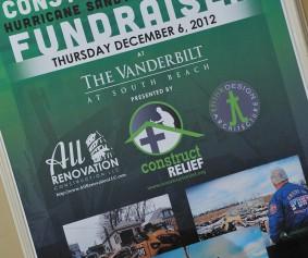 Construct Relief Staten Island Hurricane Sandy Fundraiser - December 6, 2012.